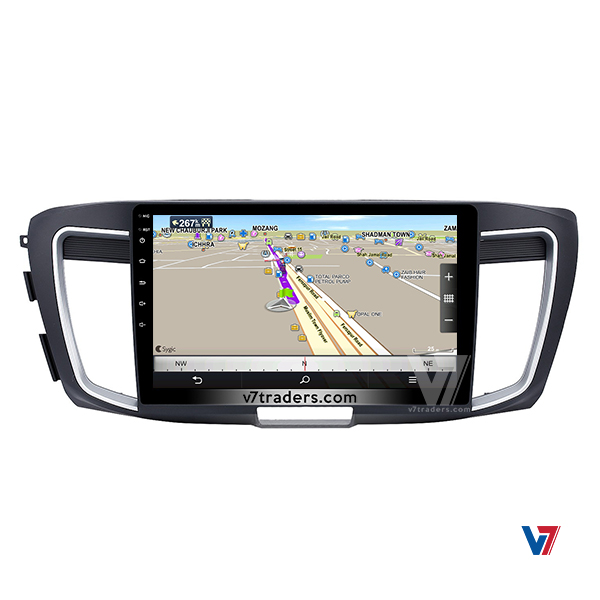 Honda Accord 2013-2017 Android Navigation V7 Map