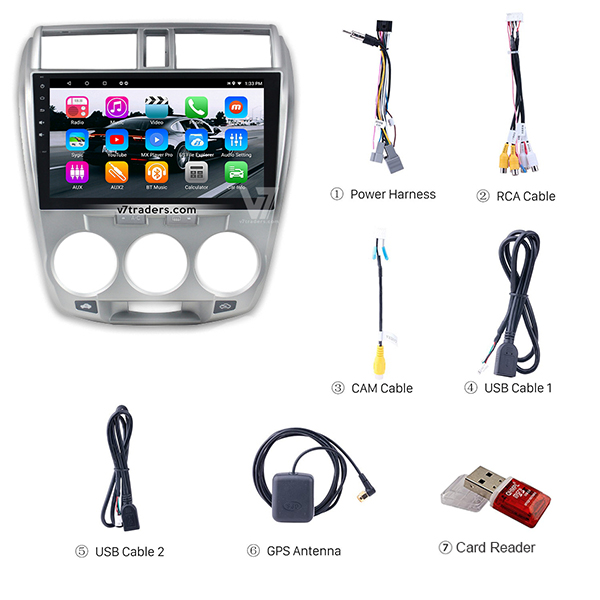 Honda City 2010-2018 Android Navigation V7 Accessories