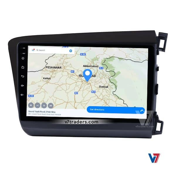 Honda Civic 2012-16 Android Navigation V7 Map