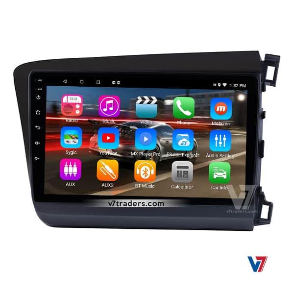 Honda Civic 2012-16 Android Navigation panel V7
