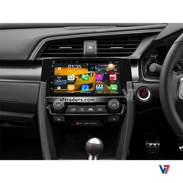 Honda Civic 2017-18 Android Navigation V7 Dashboard