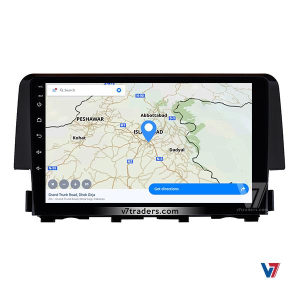 Honda Civic 2017 -2018 Android Navigation V7 Map