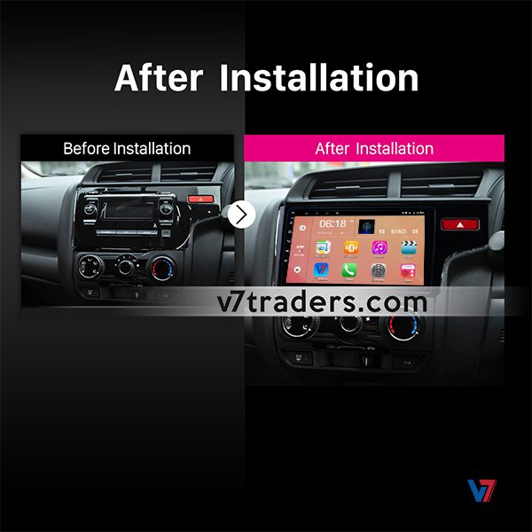Honda Fit 2018 Android V7 Navigation Dashboard
