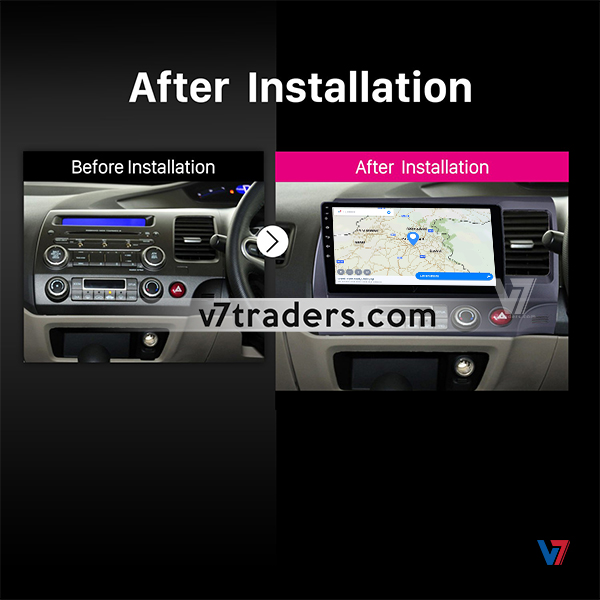 "Honda Civic Reborn Navigation 10/11"" Screen 2"