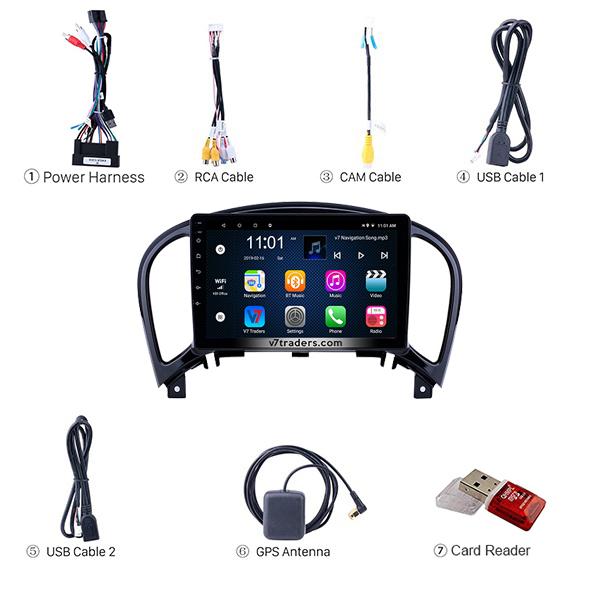 "Nissan Juke 2011-18 Android Navigation 10/11"" Screen 2"