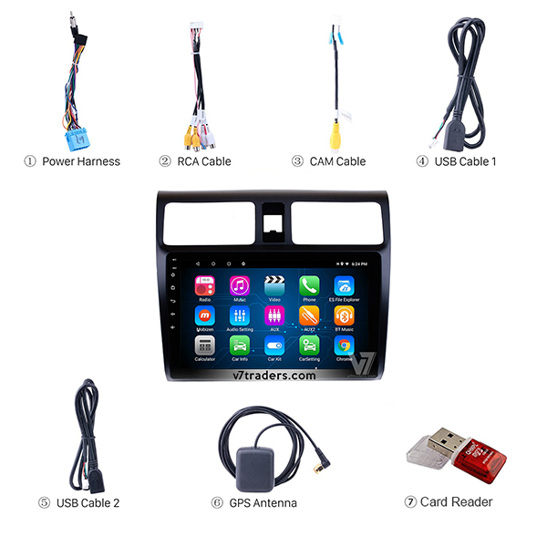 Suzuki Swift 2008-15 Android Navigation Accessories V7