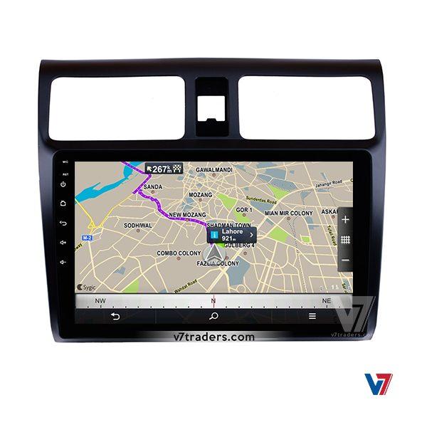 Suzuki Swift 2008-15 V7 Android Navigation Map