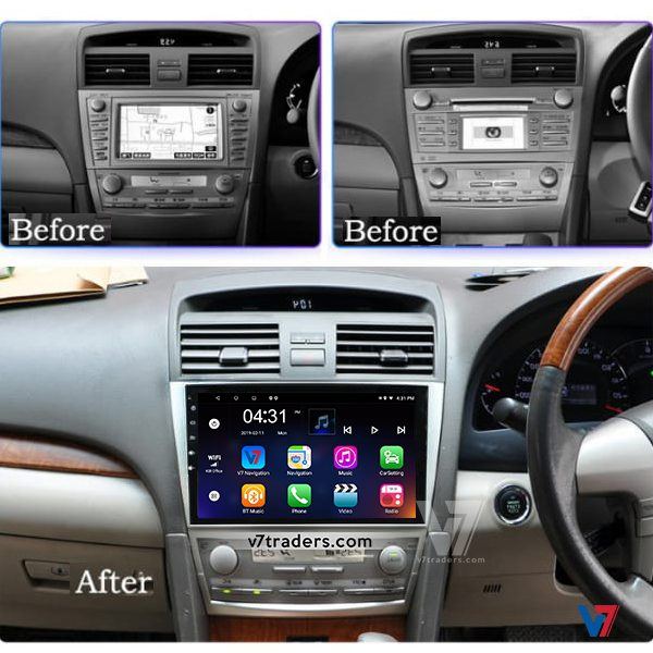 Toyota Camry 2007-11 Android Navigation Dashboard V7