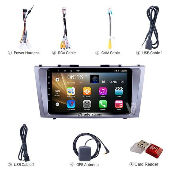 Toyota Camry 2007-2011 Android V7 Navigation Accessories
