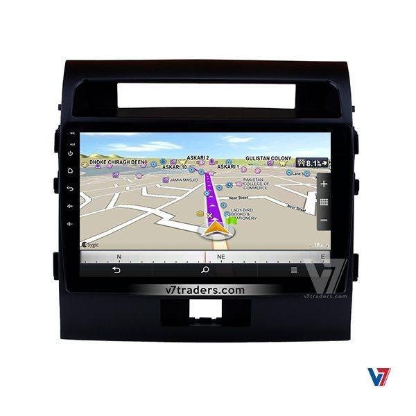 Toyota Land Cruiser 2008-16 Navigation Panel V7 Map