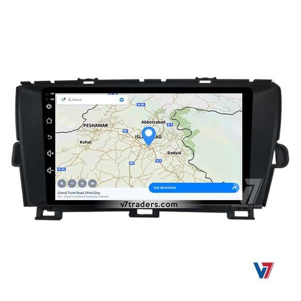 Toyota Prius V7 Navigation Map