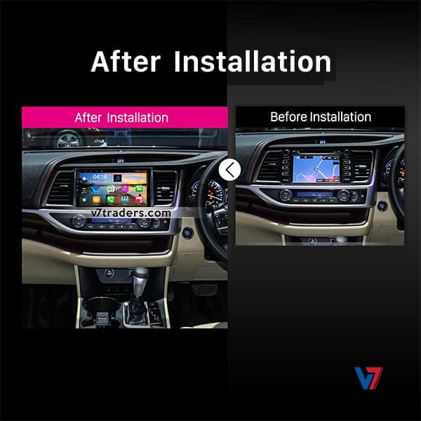 Toyota Highlander Android Navigation V7 Dashboard