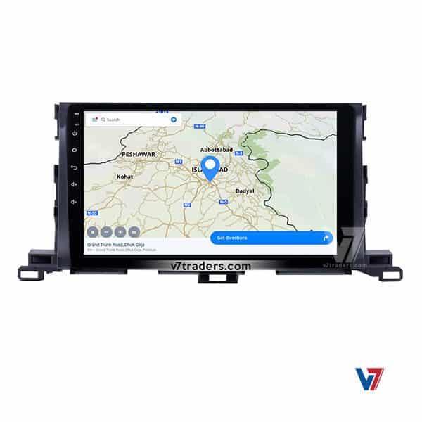 Toyota Highlander Android Navigation V7 Map