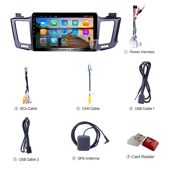 Toyota Rav 4 V7 Android Navigation Accessories