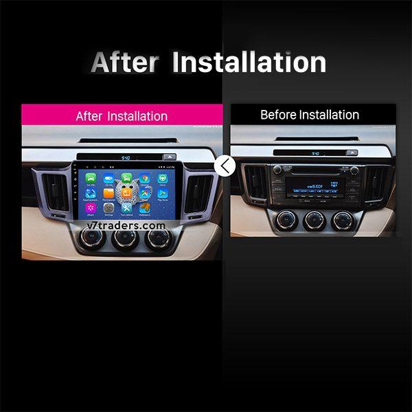 Toyota Rav 4 V7 Android Navigation Dashboard