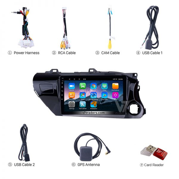 "Hilux Revo Android Navigation 10/11"" Screen 7"