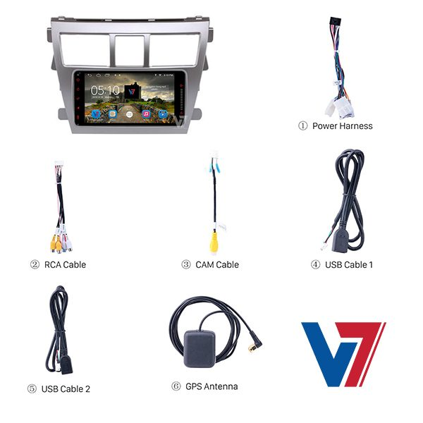 Toyota Belta Android Navigation Accessories