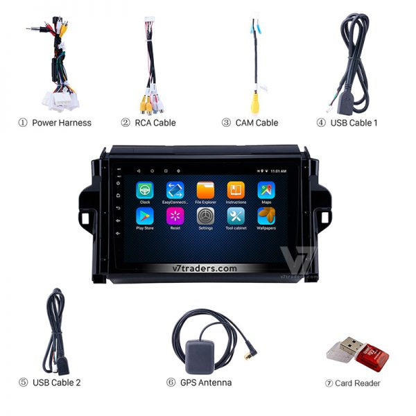 """Toyota Fortuner Android Navigation 10/11"""" Screen 6"""