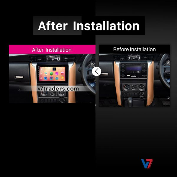 """Toyota Fortuner Android Navigation 10/11"""" Screen 5"""