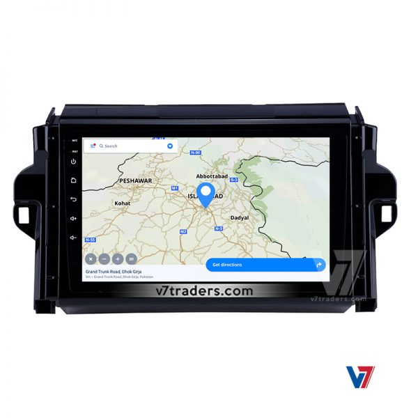 """Toyota Fortuner Android Navigation 10/11"""" Screen 4"""