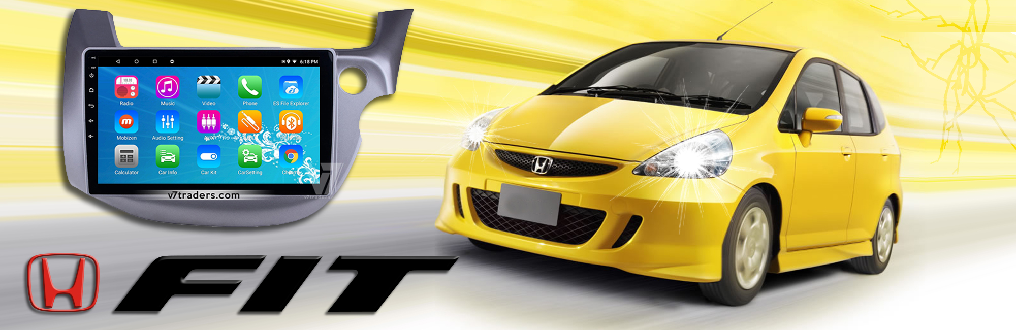 Honda Fit Android Navigaation Slider