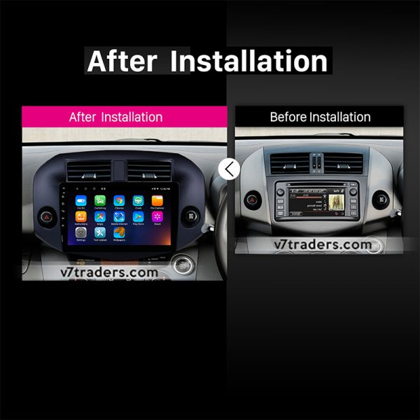 "Toyota Rav4 2007-11 Android Navigation 10/11"" Screen 2"