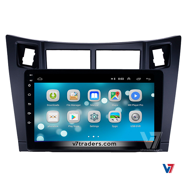 Vitz 2006-12 10 inch Android Navigation 8
