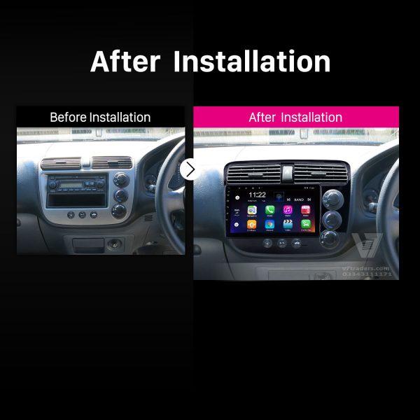 "Honda Civic 2002-06 Navigation 10/11"" Screen 2"