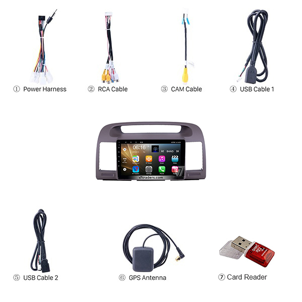 Toyota Camry 2002-06 Android Navigation 3