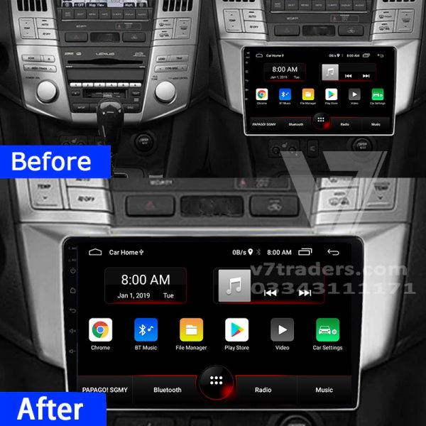 Lexus Harrier before after android
