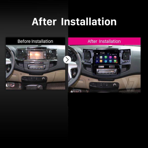 "Toyota Fortuner 2008-14 Navigation 10/11"" Screen 2"